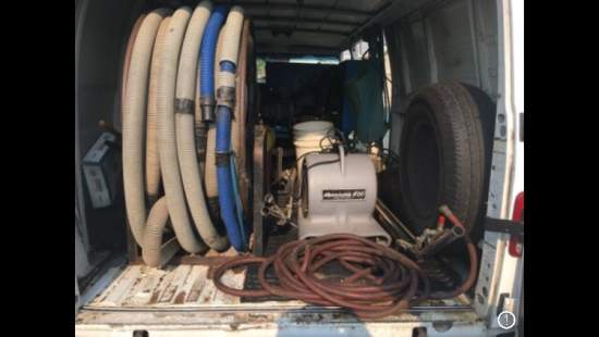 1995 Used carpet cleaning van and equipment