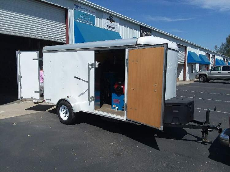 Steambrite 37 hours in clean 6x12 Cargo Trailer