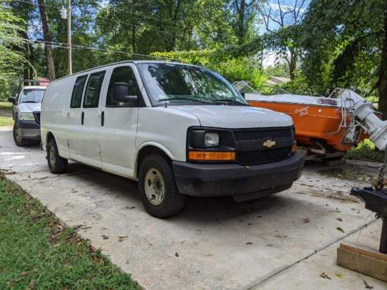 2016 Chevy Express with Boxer cleaning equipment